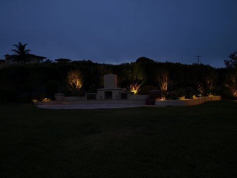 Conejo Valley Landscape Lighting Patio Area