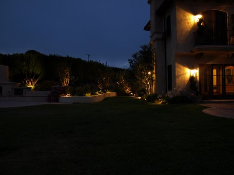 Conejo Valley Landscape Lighting Patio Garden